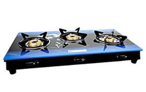 Milton Premium 3 Burner Glass Top Gas Stove