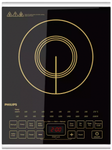 Philips Viva Collection HD493801 2100-Watt Induction Cooktop with Sensor Touch (Black)