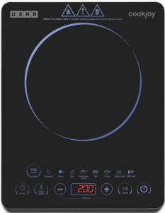 Usha Cook Joy (3820) 2000-Watt Induction Cooktop with Touch (Black)