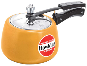 Hawkins Contura Ceramic Coated Pressure Cooker_Yellow